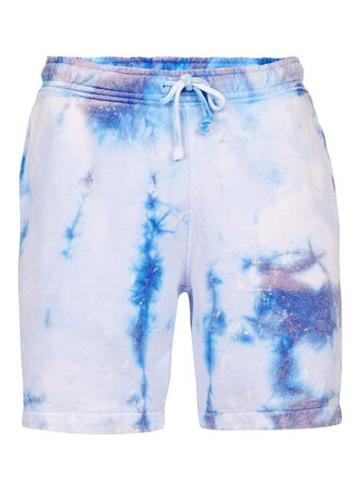 Topman Mens Blue Galaxy Tie Dye Jersey Shorts
