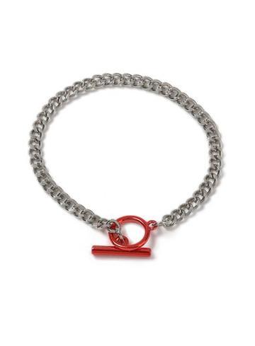 Topman Mens Red T Bar Bracelet*