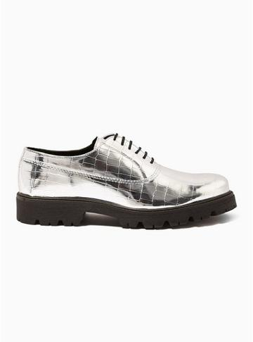 Topman Mens Metallic Kemel Oxford Shoes