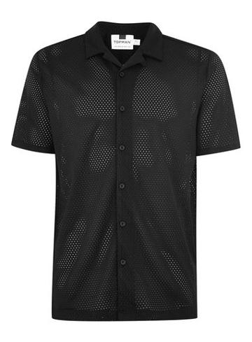 Topman Mens Black Revere Shirt