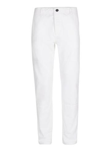 Topman Mens White Panelled Standard Fit Chinos