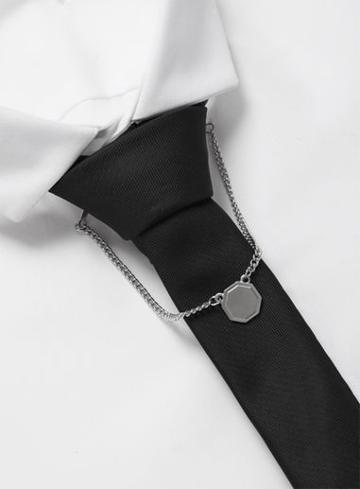 Topman Mens Brushed Silver Look Collar Tips*
