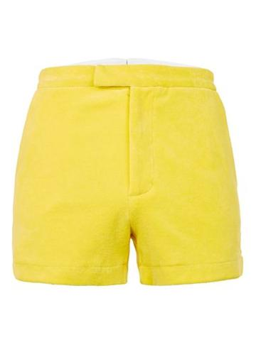 Topman Mens Topman Design Yellow Towelling Shorts