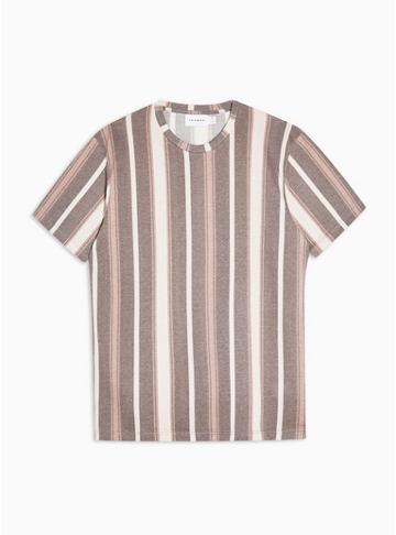 Topman Mens Multi Dark Stripe T-shirt