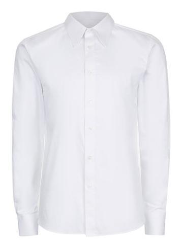 Topman Mens White Point Collar Premium Shirt