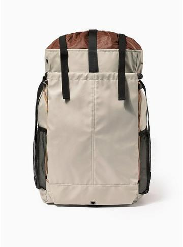 Topman Mens Beige Stone Tech Backpack