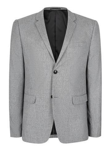 Topman Mens Grey Salt And Pepper Textured Skinny Fit Blazer