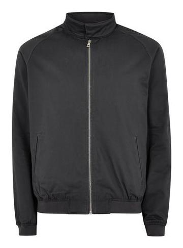 Topman Mens Mid Grey Grey Harrington Jacket