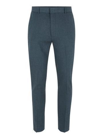 Topman Mens Blue Marl Ultra Skinny Dress Pants
