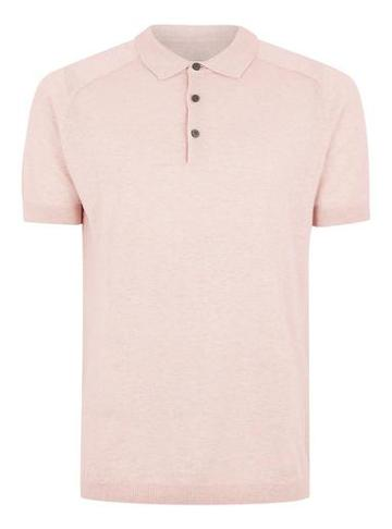 Topman Mens Purple Selected Homme Knitted Polo