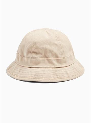 Topman Mens Off White Dome Bucket Hat