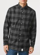Topman Mens Nicce Black Check Shirt