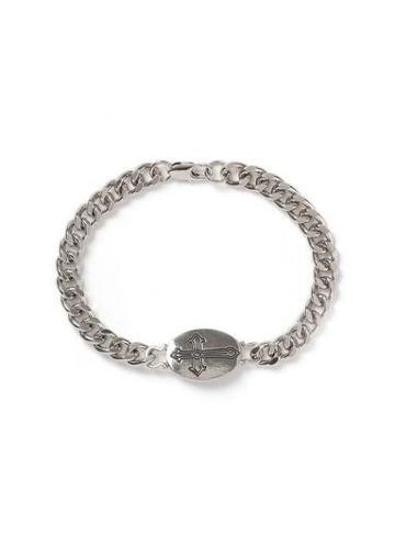 Topman Mens Silver Cross Bracelet
