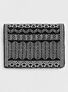 Topman Mens Black And White Knitted Scarf