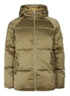Topman Mens Green Khaki Oversized Puffer Jacket