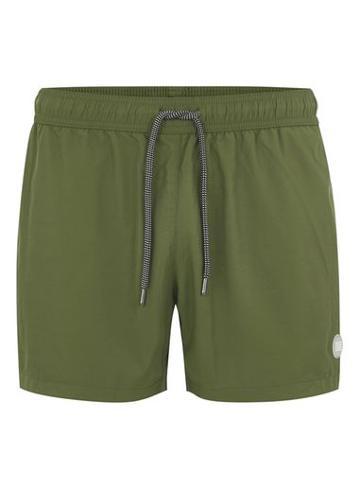 Topman Mens Khaki Olive Swim Shorts