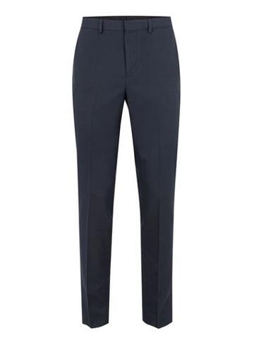 Topman Mens Navy Textured Skinny Fit Suit Pants