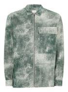 Topman Mens Ltd Khaki Preston Corduroy Long Sleeve Overshirt