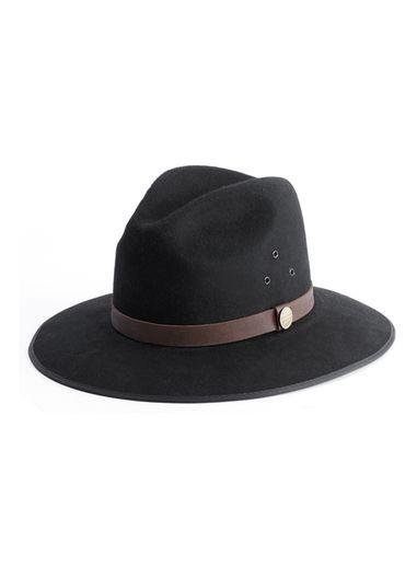 Topman Mens Simon And Mary Black Wide Brim Hat