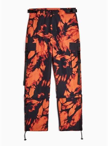Jaded Mens Orange Jaded Tie Dye Cargo Pants*