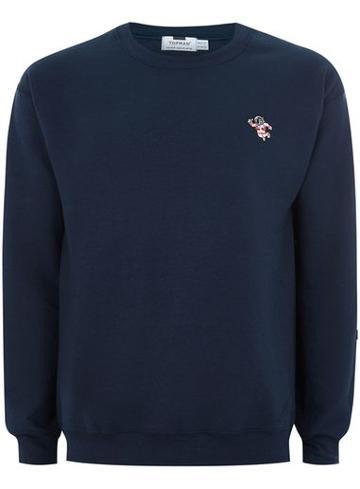 Topman Mens Navy Astronaut Sweatshirt