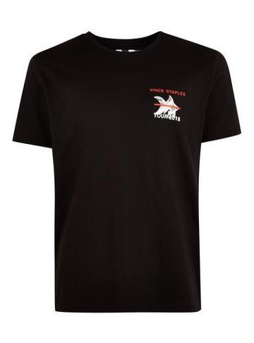 Topman Mens Black 'vince Staples' T-shirt