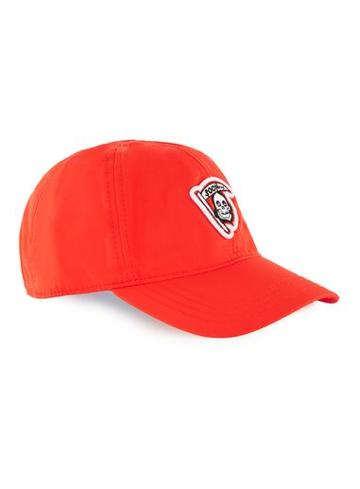 Topman Mens Red Grim Reaper Curved Peak Cap