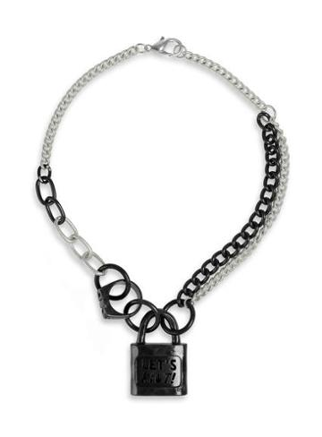 Topman Mens Metallic Topman Design Padlock Necklace*