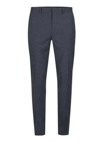 Topman Mens Blue Navy Marl Skinny Fit Suit Pants
