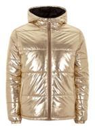 Topman Mens Ltd Gold Bomber Jacket