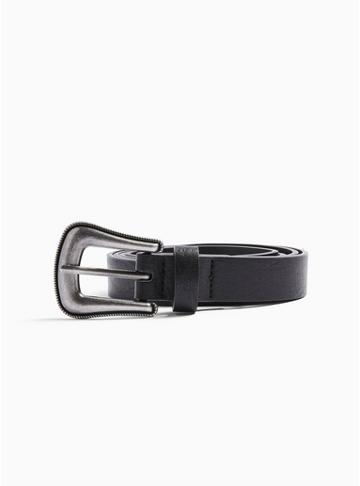 Topman Mens Black Studded Belt