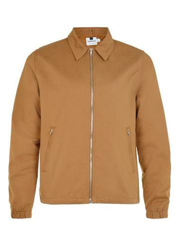 Topman Mens Rust Harrington Jacket