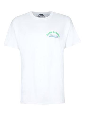 Topman Mens White Gator Print Oversized T-shirt