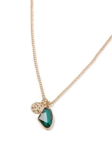 Topman Mens Green Emerald Charm Necklace*