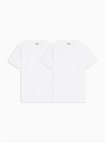 Topman Mens Multi White T-shirt 2 Pack*