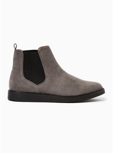 Topman Mens Grey Chant Chelsea Boots
