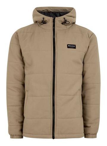 Topman Mens Nicce Brown 'summit' Puffer Jacket