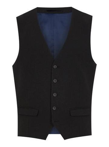 Topman Mens Grey Selected Homme Dark Gray Textured Vest