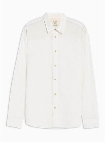 Selected Homme Mens Selected Homme White Plain Shirt