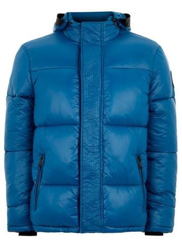 Topman Mens Navy Blue Puffer Jacket