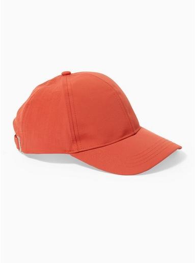 Topman Mens Red Tech Curve Peak Cap