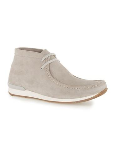 Topman Mens Grey Suede Lace Up Chukka Boots