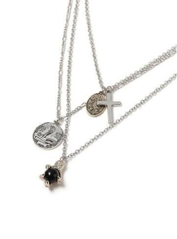 Topman Mens Silver Charm Necklace*