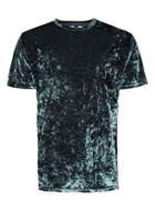 Topman Mens Grey Velour Oversized T-shirt