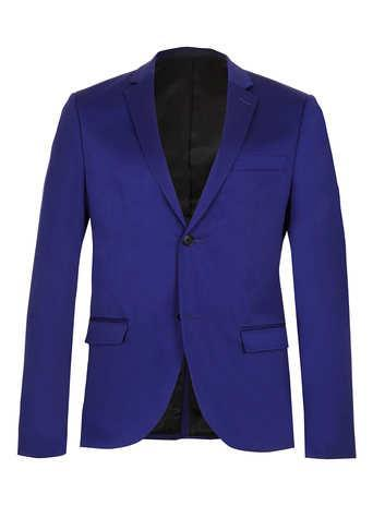 Topman Bright Blue Skinny Fit Blazer