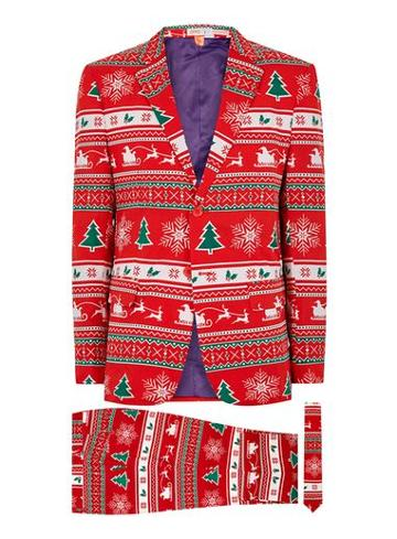 Topman Mens Multi Opposuits Winter Wonderland Suit