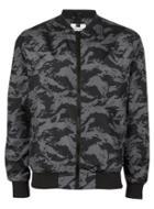 Topman Mens Grey Tiger Print Bomber Jacket