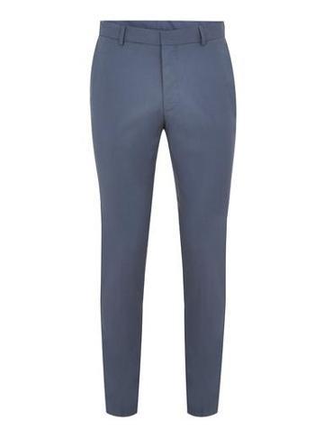 Topman Mens Dusky Blue Skinny Dress Pants