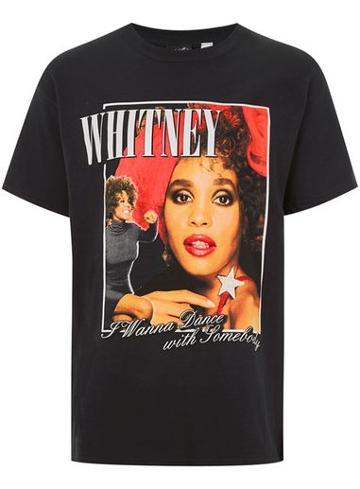 Topman Mens Black Whitney Houston T-shirt