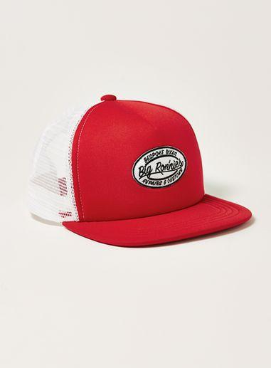 Topman Mens Red Ronnies Trucker Cap